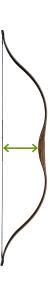 Standhöhe eines Bogens